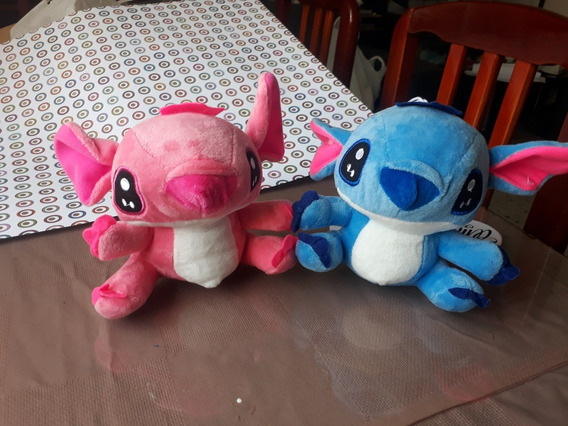 Peluches De Stitch Azul Y Rosado Medianos ¡¡ya Disponibles!!