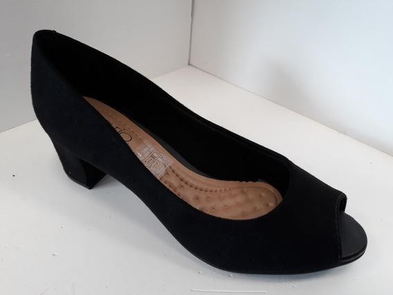 Zapato Mujer Beira Rio Clasico Boca De Pez Taco 5cm Uniforme