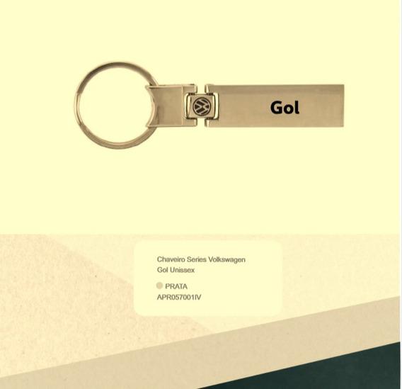 Chaveiro Prata Gol Series Original Vw Apr057001pj