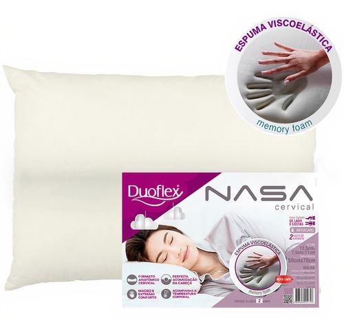 Travesseiro Nasa Viscoelástico Cervical Antiácaro Duoflex