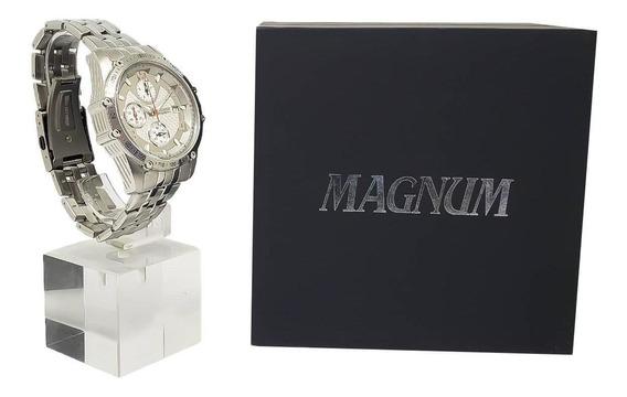 Relógio Masculino Magnum Ma32461q 2 Anos De Garantia