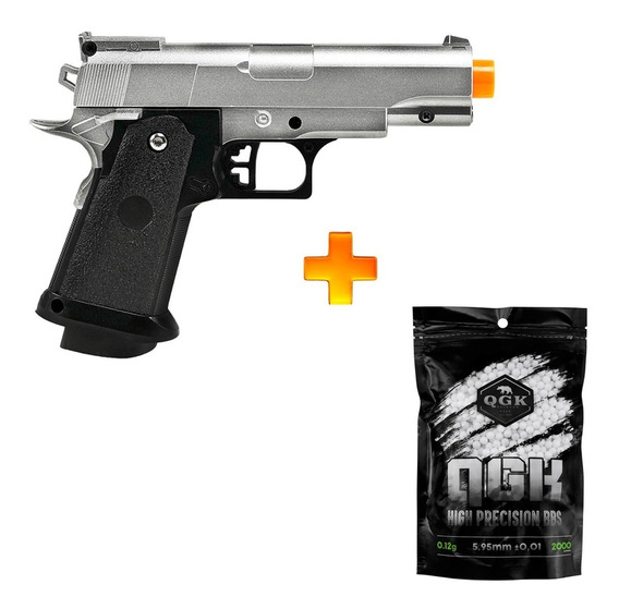 Pistola De Airsoft Spring G10s Full Metal 6mm - Galaxy + 2000 Bbs 0.12g U Unica Unica