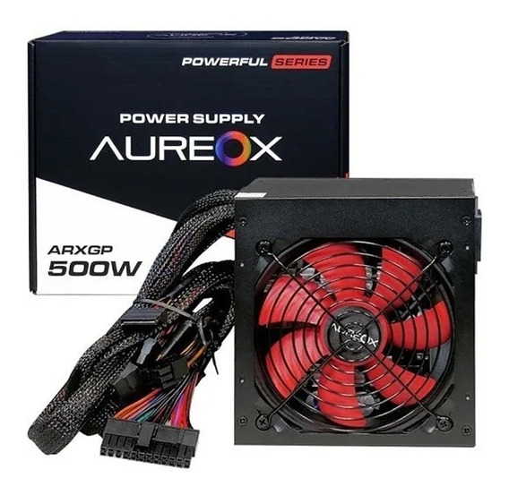 Fuente Pc Gamer Aureox Arxgp 500w Reales Cooler 120mm