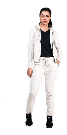 Conjunto Agasalho Com Capuz Plush Branco Part.b Feminino