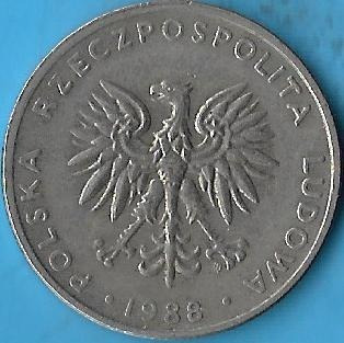 !!! Polonia 1988 20 Zlotych Muy Buena !!!