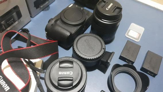 Canon M3 Adaptador Lente E-fs 2 Baterias Lente 50mm Steadcam