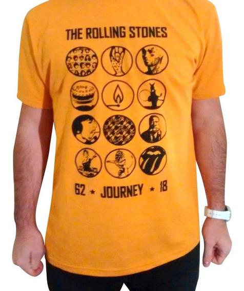 Remera Rolling Stones - Mostaza Talle S (unisex)