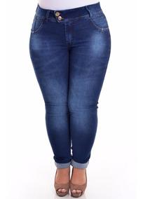 Calça Jeans C/ Lycra Feminina Plus Size 50 52 54 56