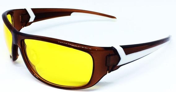 Óculos Esportivo Noturno Para Dirigir À Noite - Marrom
