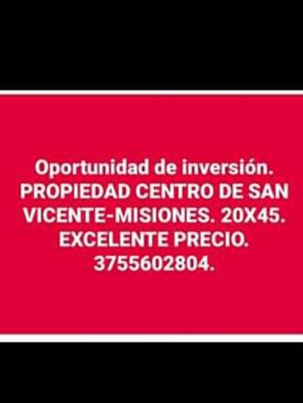 Oportunidad De Inversión. Propiedad Centro San Vicente.