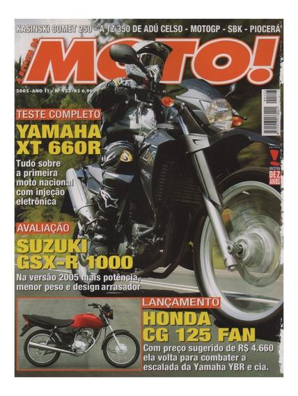 Moto! N°123 Yamaha Xt 660r Suzuki Gsx-r 1000 Honda Cg125 Fan