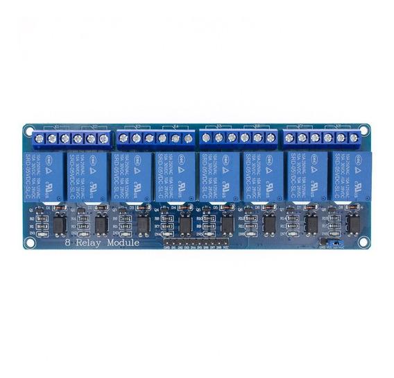 Módulo Rele 8 Canais 5v 10a Arduino Pic Raspberry Automação