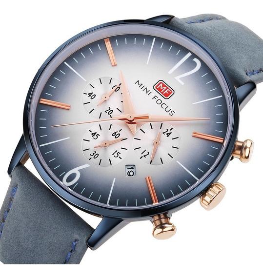 Reloj Para Hombre Original Minifocus Elgante Moderno 114g