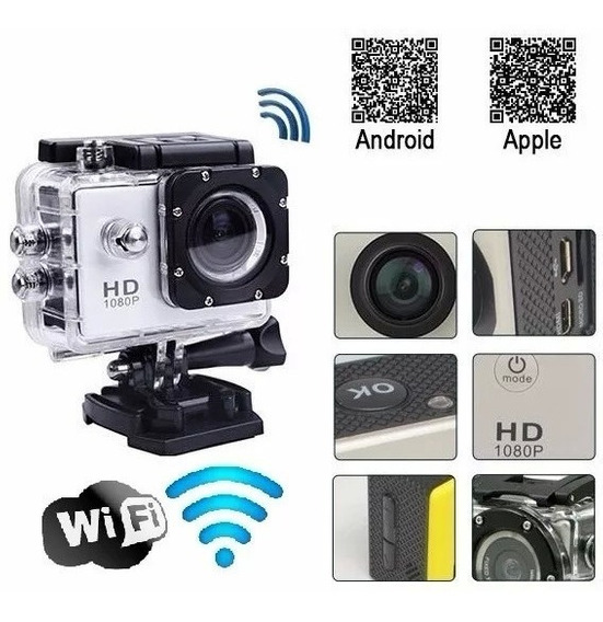 Camera Filmadora Digital Full Hd 1080p Wifi Go Esporte