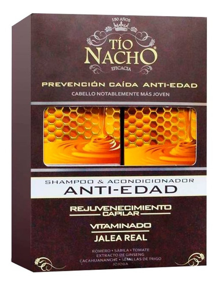 Combo Shampoo + Acondicionador Tio Nacho Anti Edad