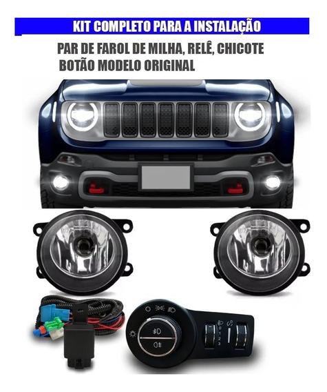 Kit Farol Milha Jeep Renegade 2020 Pcd Botao Bi-partido