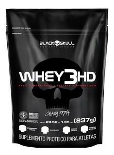 Whey Protein 3hd 837g Black Skull Caveira Preta