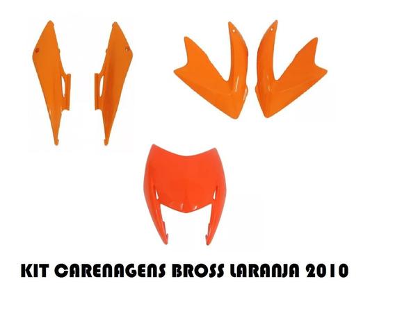 Kit De Carenagem Da Bross Laranja 2010