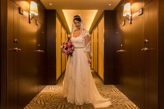 Vestido De Noiva Boho Chic, Retrô - Julia Golldenzon