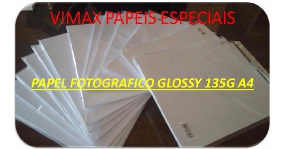 1.600 Folhas Papel Fotografico Glossy A4 135g À Prova D