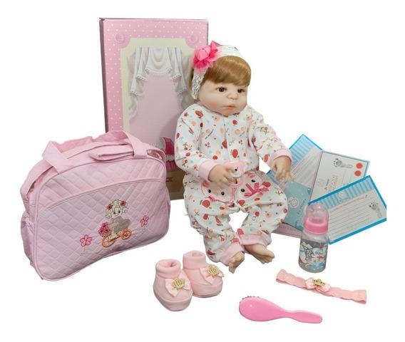 Bebê Reborn Menina Pronta Entrega Frete Grátis Com Enxoval