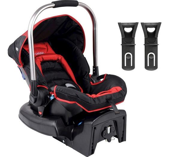 Bebê Conforto Kiddo Caracol Com Base - Preto/vermelho - Grup