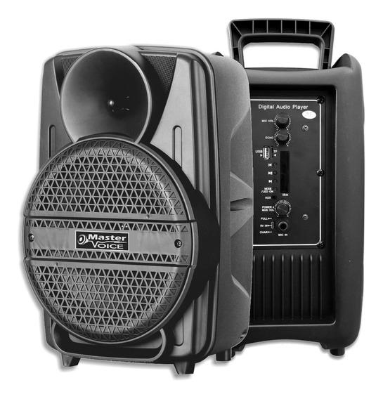 Caixa De Som 8 Polegadas Ativa Bluetooth Mv8 Master Voice