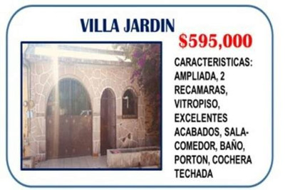 Casa En Venta En Villa Jardin
