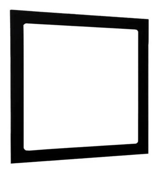 Plafon Embutir Quadrado Led 25w Painel Preto Bivolt 30x30