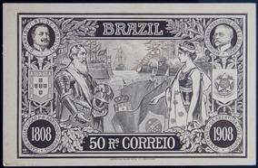 Brasil Bilhete Postal 1908 Abertura Portos 50rssépia
