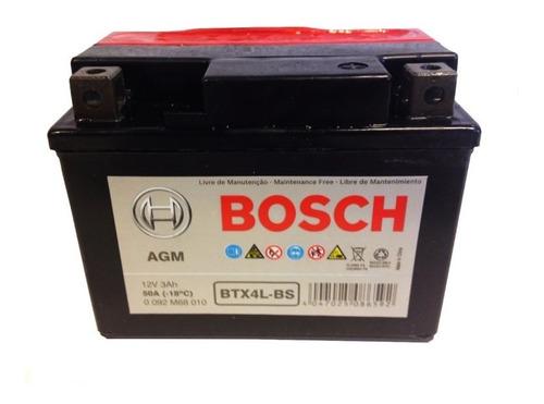 Bateria Moto Bosch Btx4l-bs Ytx4l-bs 12v 3ah Original