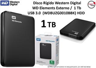 Disco Rígido Western Digital Wd Elements Externo 1tb Usb 3.0
