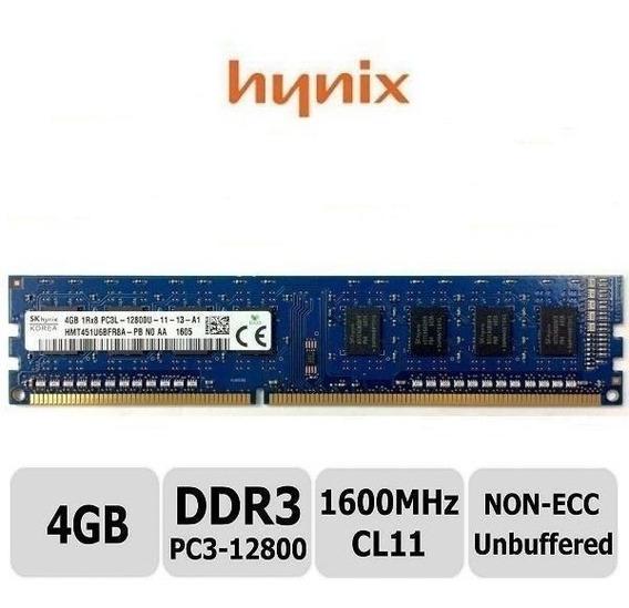 Memoria Ram 4gb Pc3-12800 Ddr3 1600mhz Dimm X 20