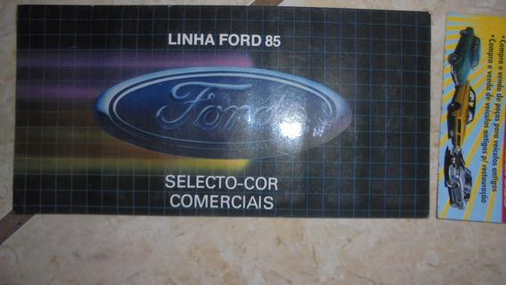 F100 F1000 F2000 F4000 F11000 85 Catálogo De Cores Ford