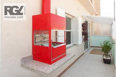 Cobertura Com 2 Dormitórios À Venda, 115 M² Por R$ 565.000 - Boqueirão - Santos/sp - Co0214