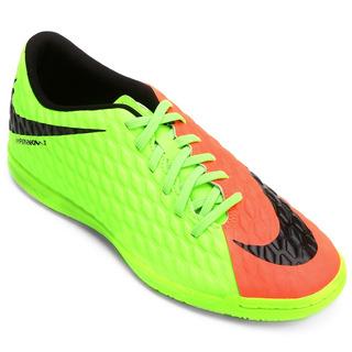 Tenis Futsal Nike Hypervenomx Phade 3 Adulto Verde- Original