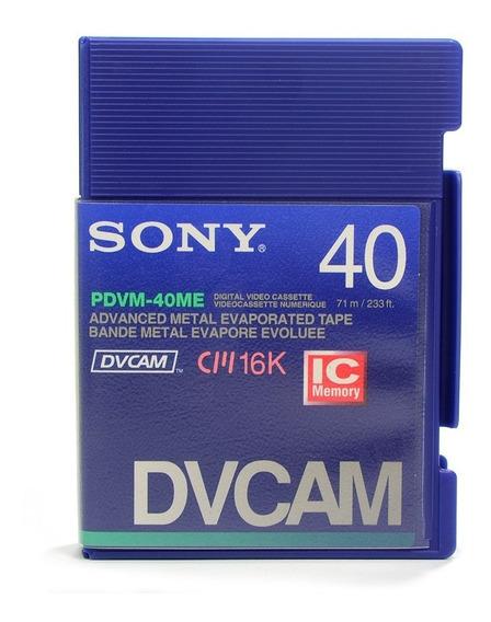 Kit C/ 5 Fitas Mini Dv Sony Pdvm-40me