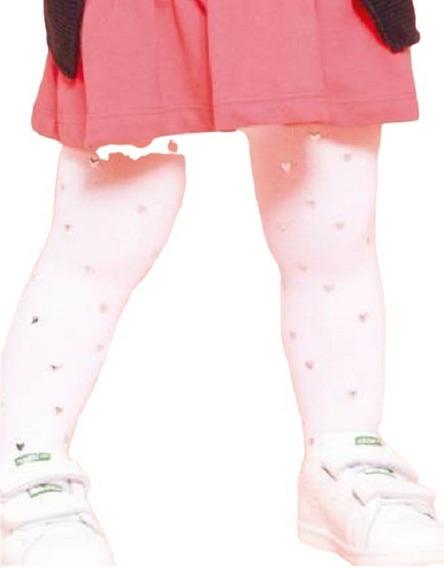 Meia Calça Infantil Pucket Coração 1 A 8 Anos