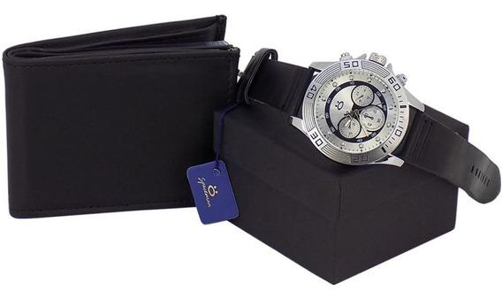 Kit Relógio+carteira