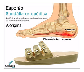 Chinelo Sandália Ortopético Para Dores Nos Pés Original