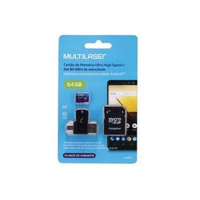 Cartão Memória 64gb +adaptador Usb Dual+adaptador Sd 80mb/s