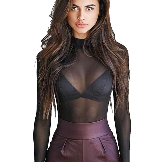 precio de fábrica los Angeles mejor precio Blusas Transparentes Negras - Blusas en Mercado Libre México