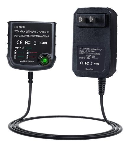 Lcs1620 20v Max Lithium Ion Carregador De Bateria Para Black