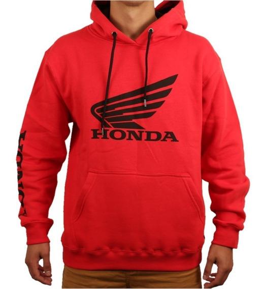 Buzo Alpinestars Honda Wing Fleece 100% Algodon Rojo Yuhmak