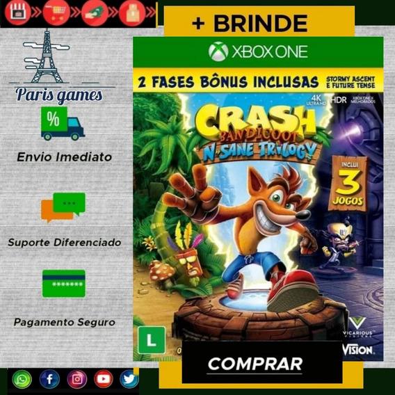 Crash Bandicoot N Sane Trilogy Xbox One Digital + Brinde