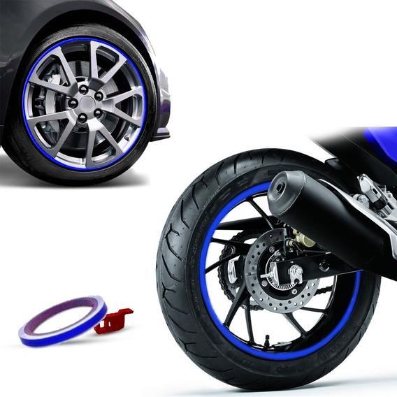 Friso De Roda Refletivo Alcom 7mm Com Aplicador - 3m Azul
