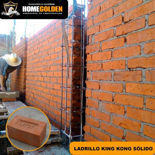 Imagen 1 de 1 de Ladrillo King Kong Sólido Para Obras Y Construcciones