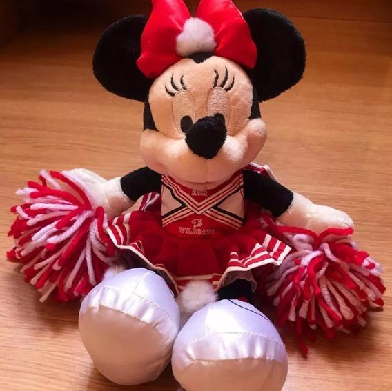 Pelúcia Minnie Líder Torcida 30cm Versão Wildcats Da Disney