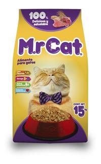 Mr. Cat. Alimento Para Gatos Todas Las Razas Y Edades 15 Kg.