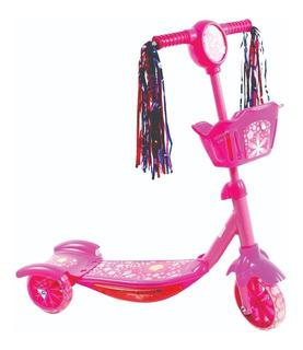 Scooter Monopatín Musical Niños Y Niñas Con Luz Y Canasta